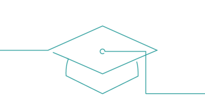 Icon showing a mortarboard