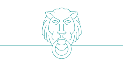 Icon showing stylized Columbia University lion