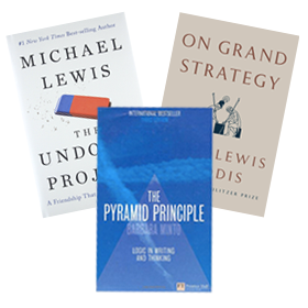 A thumbnail of three books recommended by SPS faculty members.