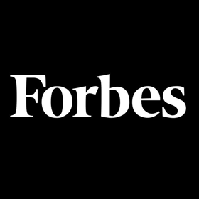 A square logo of Forbes magazine.