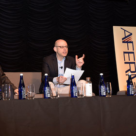 Sim Segal speaks at the 2019 AFERM Summit