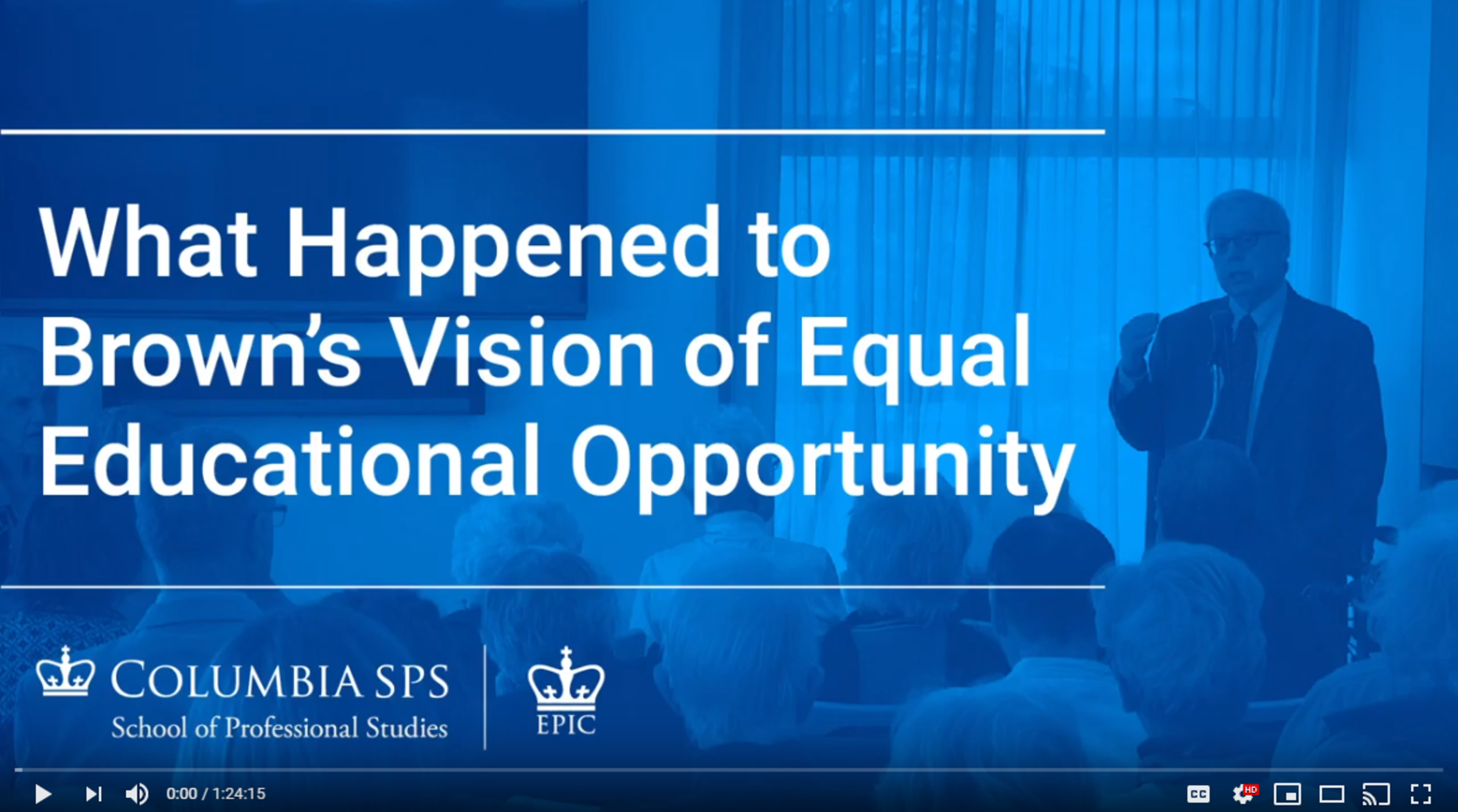 "EPIC/SPS Talk: ""What Happened to Brown's Vision of Equal Educational Opportunity and How Can We Get Back on Course?"""