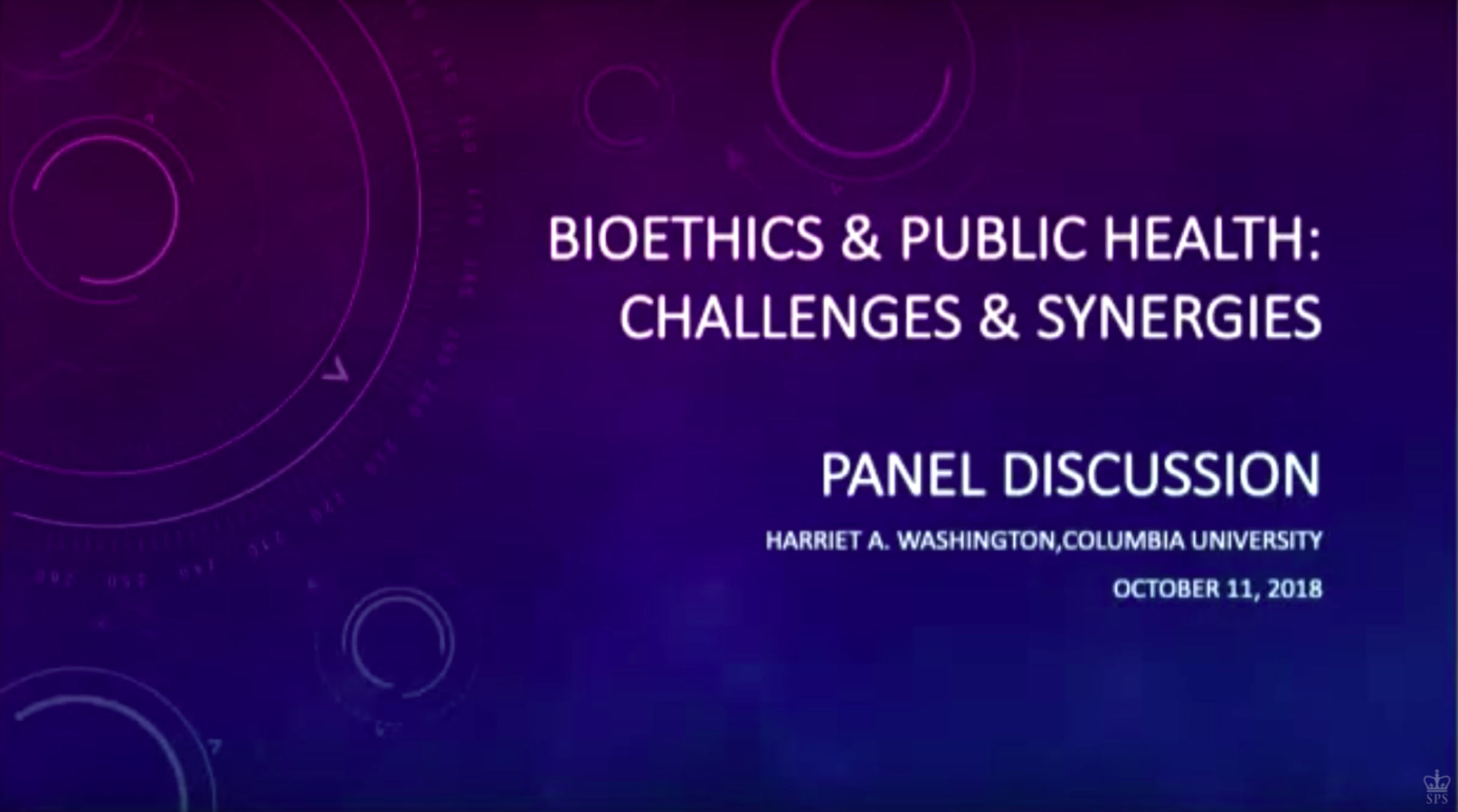 Bioethics and Public Health: Synergies and Challenges