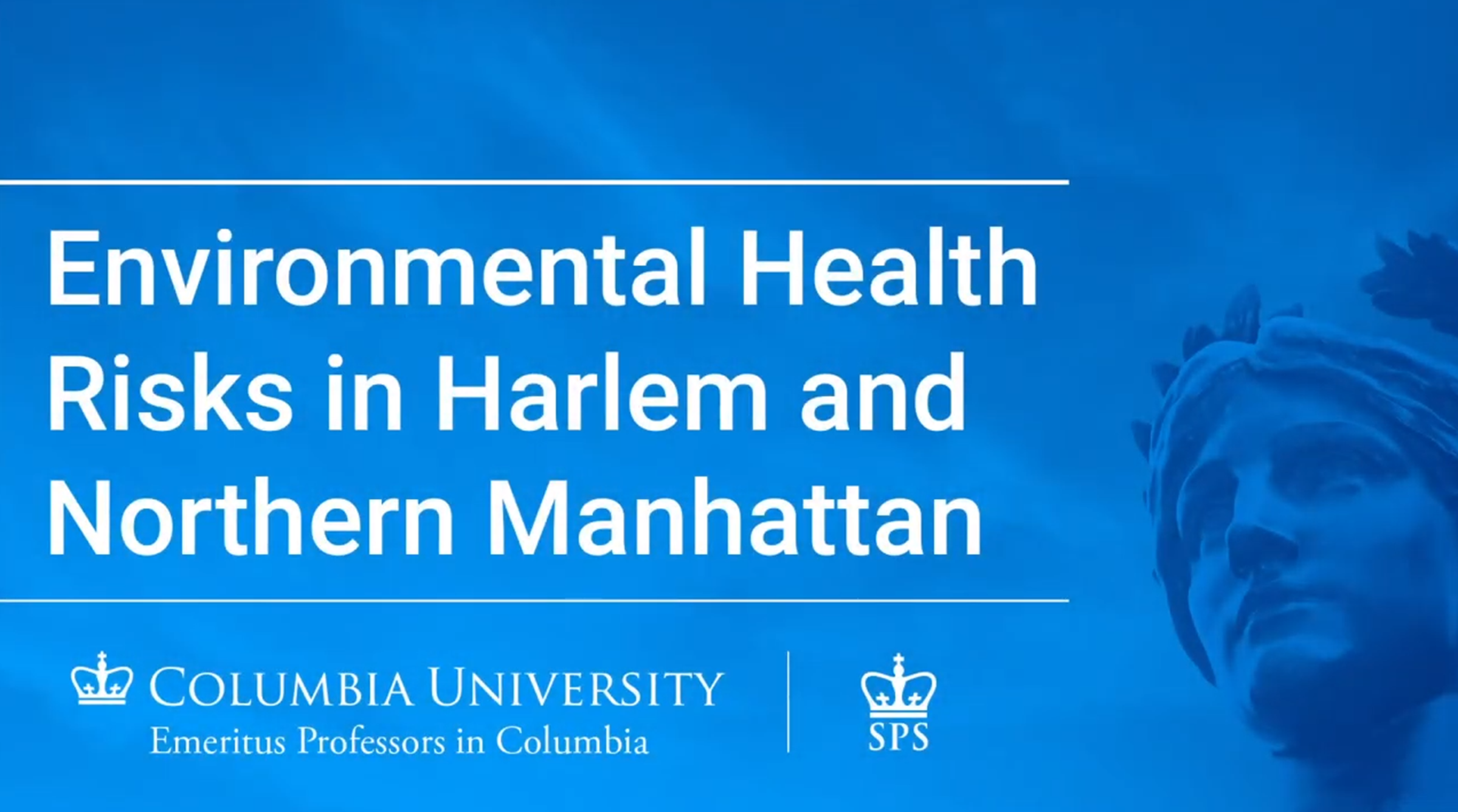 Environmental Health Risks in Harlem and Northern Manhattan