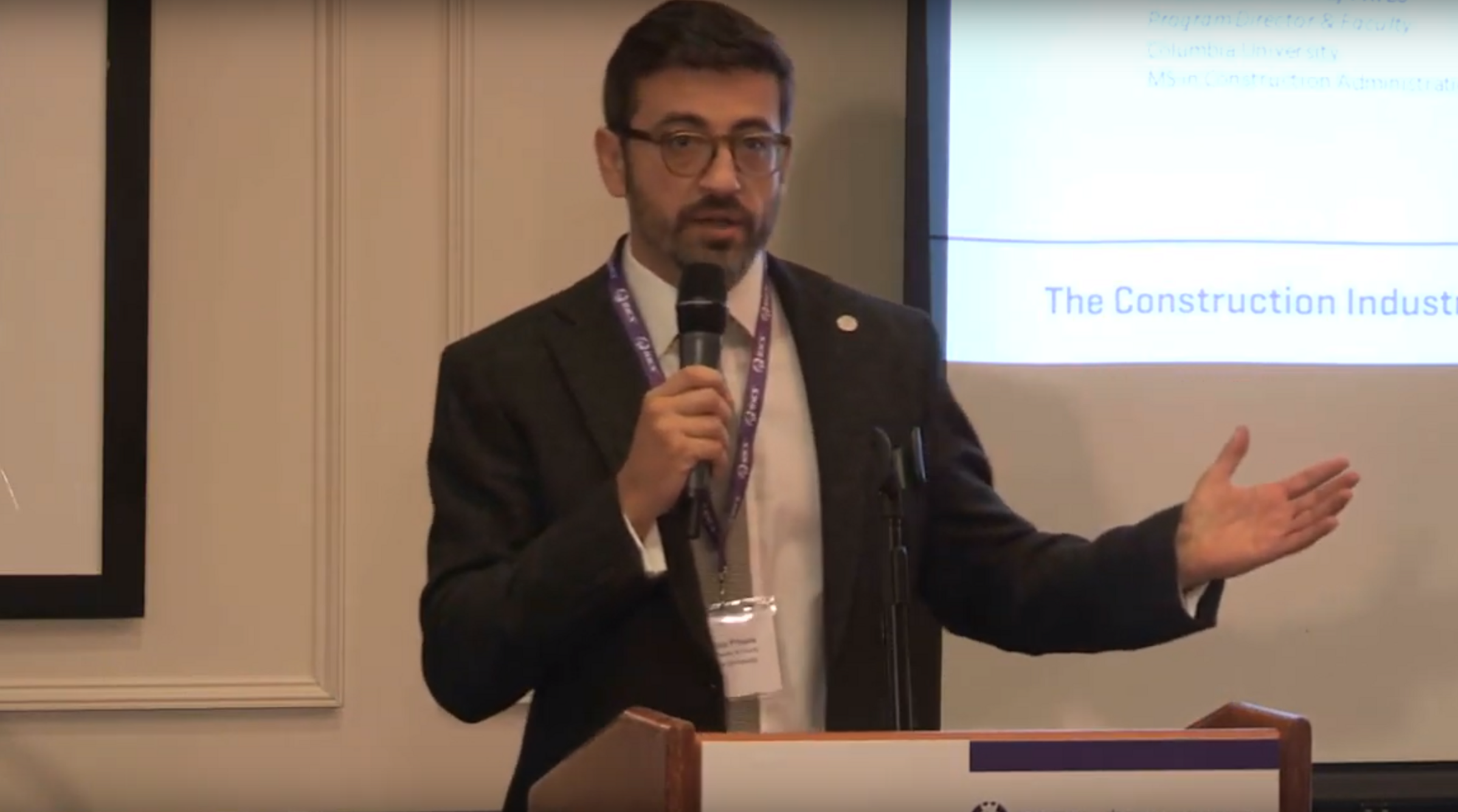 Watch video highlights from the 2019 Columbia and RICS Construction Technology Symposium.