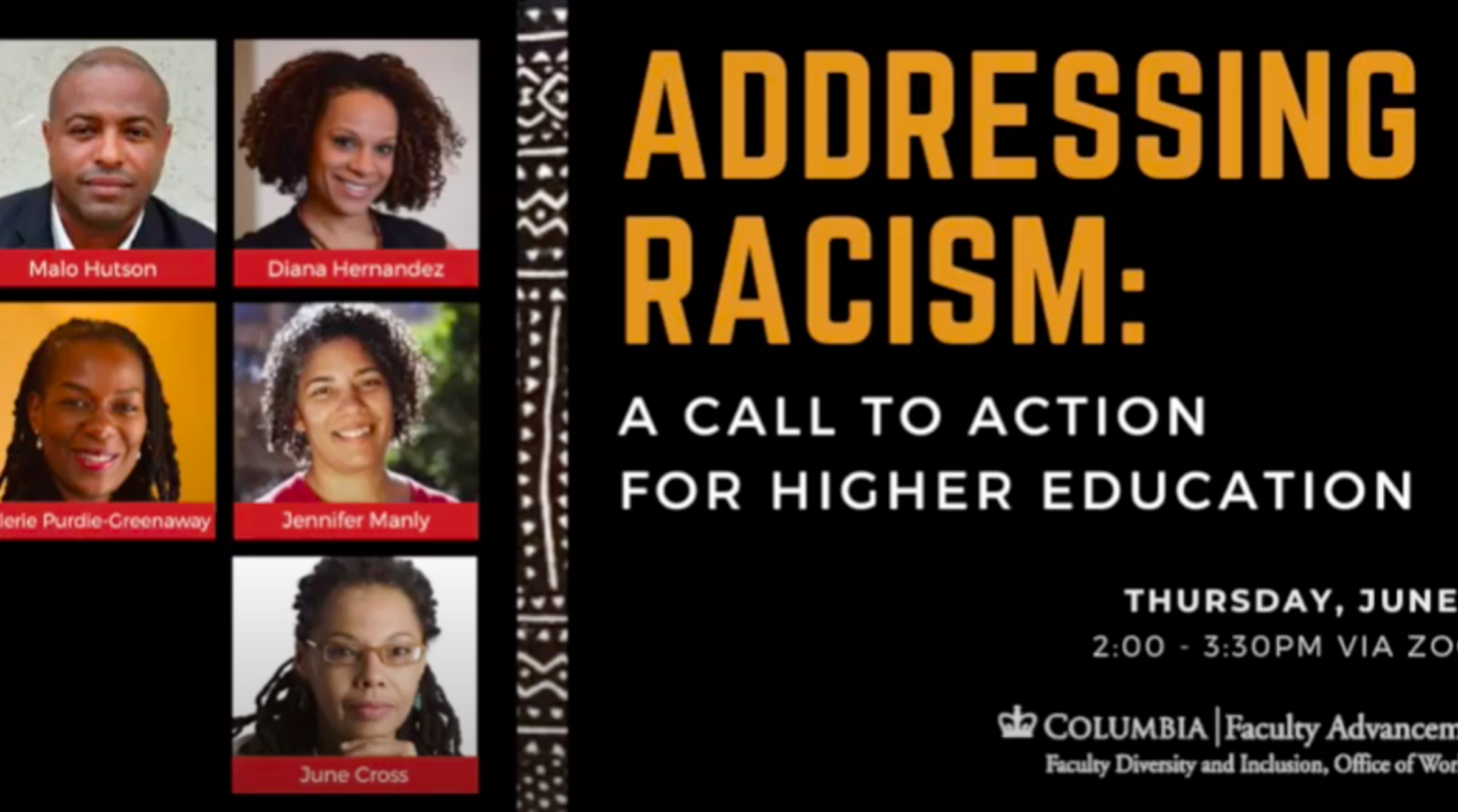 Addressing Racism: A Call to Action for Higher Education